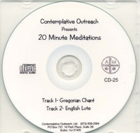 20-Minute Meditation Timer CD- 2-track Gregorian Chant and Lute